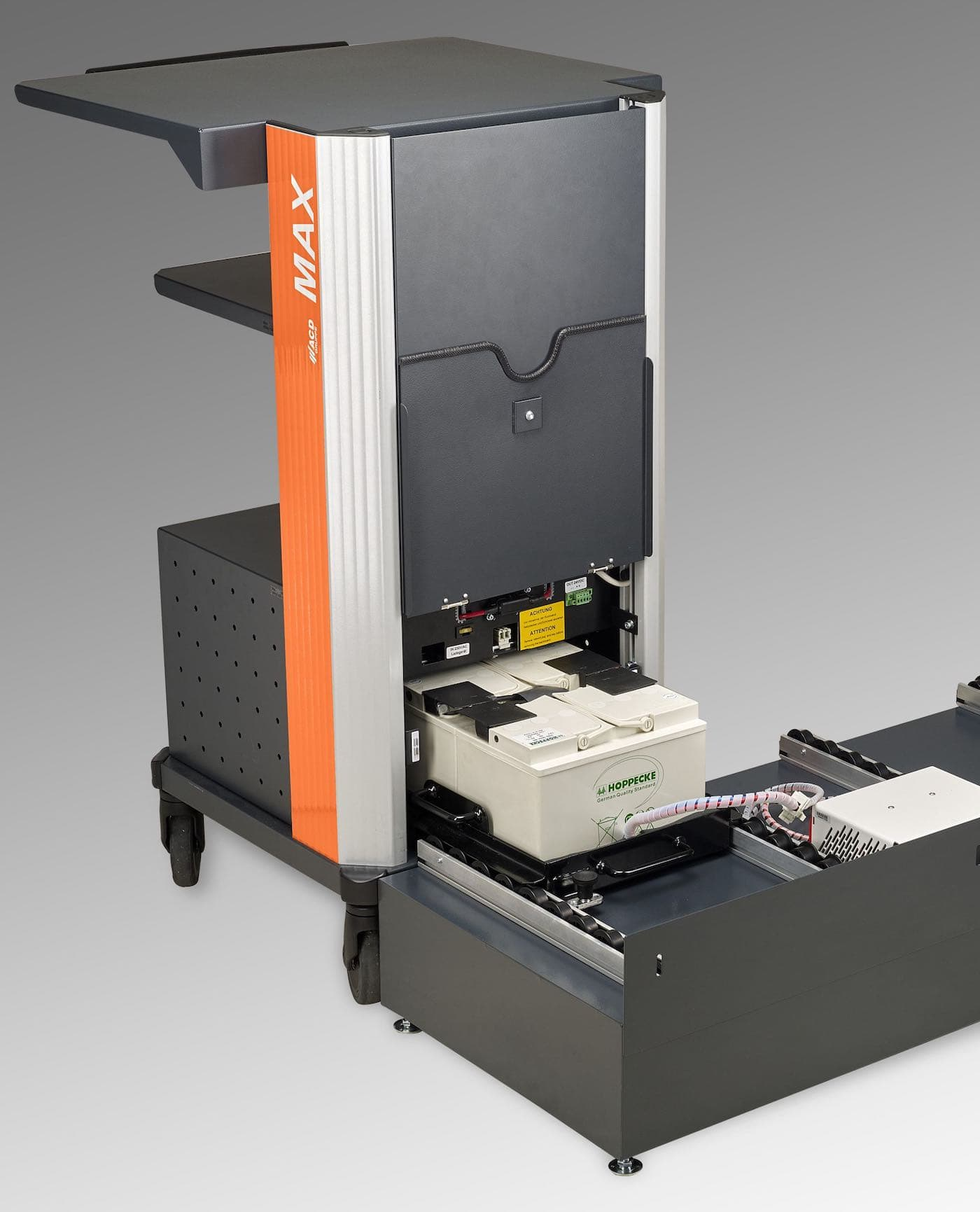 Warehouse Battery-Powered Mobile Workstation with quick change battery MAX BWS-R US