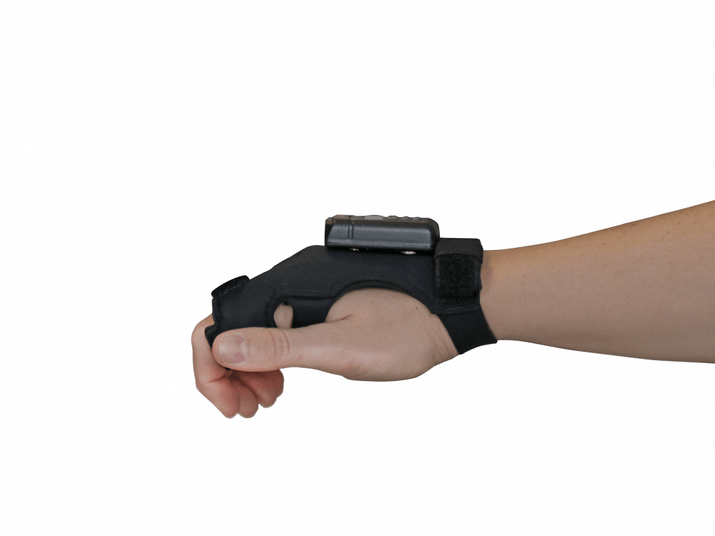 wearable hand scanner HasciSE with hand strap